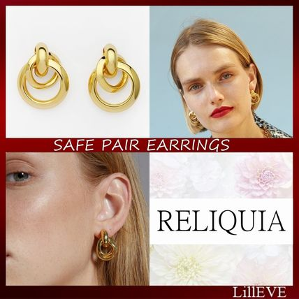 Party Style 18K Gold Earrings & Piercings