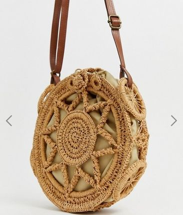 Casual Style Blended Fabrics Shoulder Bags