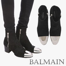 BALMAIN Unisex Suede Street Style Boots