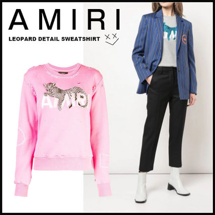 Crew Neck Long Sleeves Other Animal Patterns Cotton