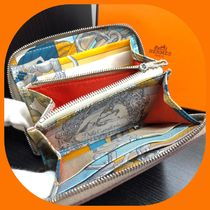HERMES Unisex Leather Coin Cases