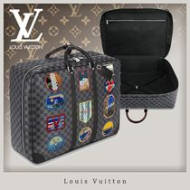 Louis Vuitton DAMIER GRAPHITE Blended Fabrics Studded Leather Business & Briefcases