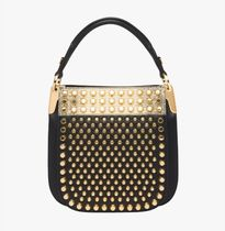 PRADA Studded Leather Party Style Home Party Ideas Handbags