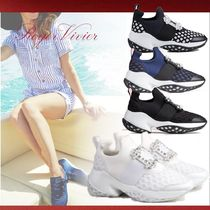 Roger Vivier Rubber Sole Casual Style Low-Top Sneakers