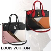 Louis Vuitton CITY STEAMER 2WAY Leather Handbags