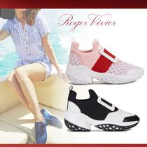 Roger Vivier Rubber Sole Casual Style Plain Low-Top Sneakers
