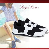 Roger Vivier Casual Style Plain Low-Top Sneakers