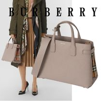 Burberry Casual Style Calfskin 2WAY Shoulder Bags