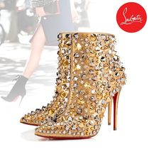 Christian Louboutin Studded Pin Heels Party Style High Heel Boots