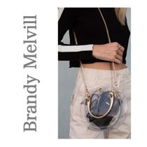 Brandy Melville Casual Style 2WAY Crystal Clear Bags Shoulder Bags