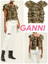 Ganni Leopard Patterns Street Style Shirts & Blouses