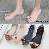 Open Toe Casual Style Plain PVC Clothing