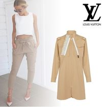 Louis Vuitton Casual Style Long Sleeves Plain Cotton Medium Dresses