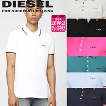 DIESEL Cotton Short Sleeves Polos