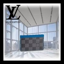 Louis Vuitton DAMIER GRAPHITE Other Check Patterns Canvas Card Holders