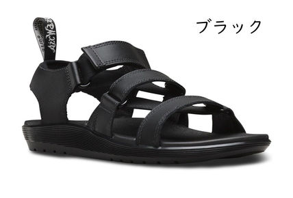 Unisex Street Style Leather Logo Sandals