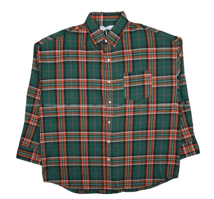 ASCLO Shirts Other Check Patterns Street Style Long Sleeves Cotton 10