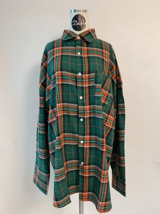 ASCLO Shirts Other Plaid Patterns Street Style Long Sleeves Cotton 11