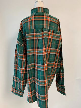 ASCLO Shirts Other Plaid Patterns Street Style Long Sleeves Cotton 12