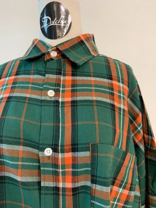 ASCLO Shirts Other Plaid Patterns Street Style Long Sleeves Cotton 13