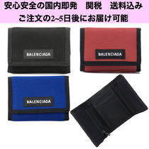BALENCIAGA Street Style Plain Folding Wallets