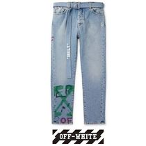 Off-White Denim Street Style Plain Jeans & Denim
