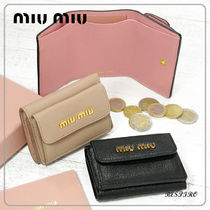 MiuMiu MADRAS Leather Folding Wallets