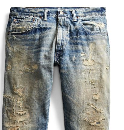 RRL More Jeans Denim Street Style Plain Jeans 3