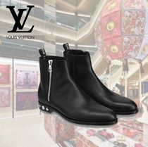 Louis Vuitton Plain Toe Plain Leather Engineer Boots