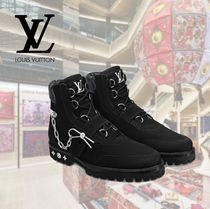 Louis Vuitton Mountain Boots Suede Studded Chain U Tips Outdoor Boots