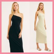 Free People Casual Style Tight Sleeveless Plain Long Dresses
