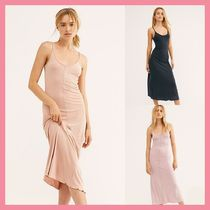 Free People Casual Style Tight Sleeveless Plain Long Midi Dresses