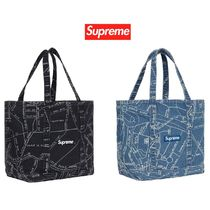 Supreme Unisex Street Style Totes