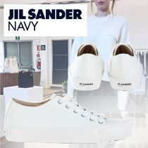 JIL SANDER NAVY Casual Style Plain Logo Low-Top Sneakers