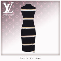 Louis Vuitton Stripes Monogram Casual Style Wool Blended Fabrics