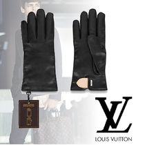 Louis Vuitton Blended Fabrics Plain Leather Leather & Faux Leather Gloves