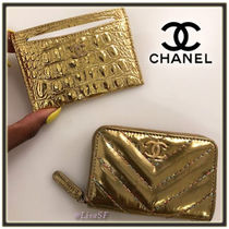 CHANEL TIMELESS CLASSICS Calfskin Other Animal Patterns Card Holders