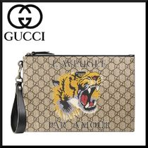 GUCCI Canvas Blended Fabrics Street Style Other Animal Patterns