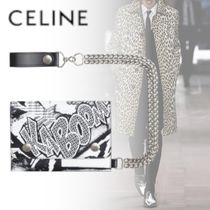 CELINE Calfskin Chain Folding Wallets