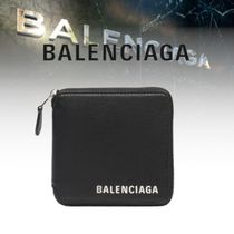 BALENCIAGA Calfskin Plain Folding Wallets