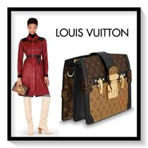 Louis Vuitton Monogram Casual Style Blended Fabrics 2WAY Chain Leather