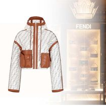FENDI Nylon Long Sleeves Hoodies & Sweatshirts
