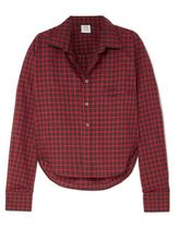 VETEMENTS Gingham Unisex Long Sleeves Cotton Shirts & Blouses
