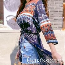 Casual Style Chiffon Long Sleeves Long Cardigans