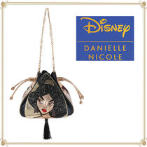 Disney Casual Style Faux Fur Collaboration 2WAY Chain Shoulder Bags