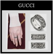 GUCCI Flower Street Style Silver Rings