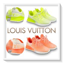 Louis Vuitton Unisex Blended Fabrics Street Style Bi-color Plain Sneakers