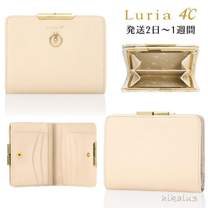 Plain Leather With Jewels Folding Wallets