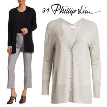 3.1 Phillip Lim Casual Style Cashmere Long Sleeves Plain Medium Cashmere