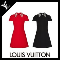 Louis Vuitton Plain Elegant Style Dresses